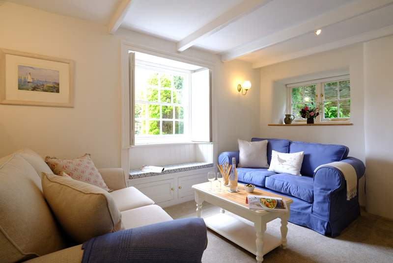 The light and airy sitting-room is a delight.