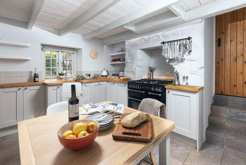 Find everything you need in the fabulous cottage kitchen.