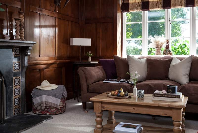 Sitting-room number one with a wood-burner, perfect for those cooler evenings.