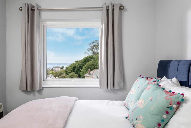 Bedroom 2 has a king-size bed and sea views.