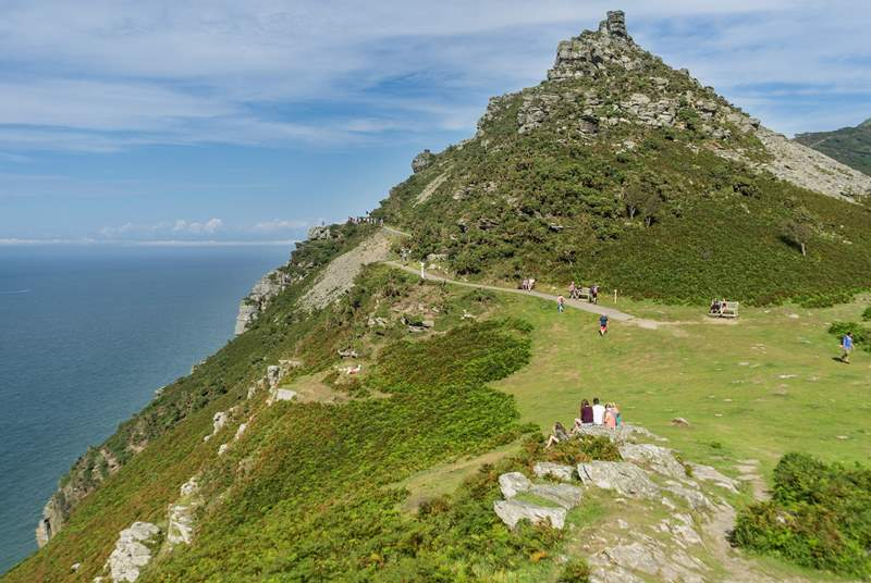 Pack the walking boots to explore the Valley of Rocks and the surrounding coastal paths.