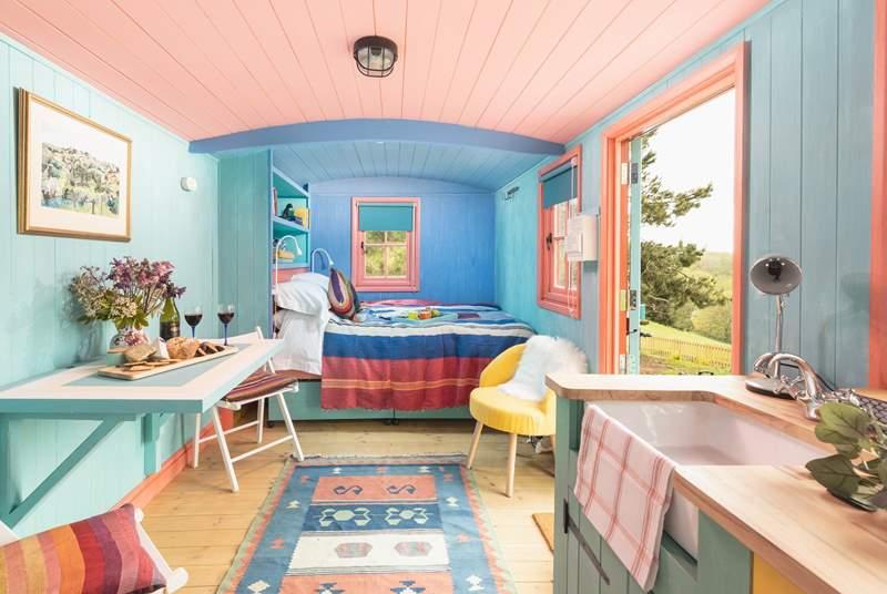 Soak up the sunny, cheerful interior.