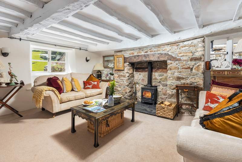 The cosy sitting-room filled with character and charm.