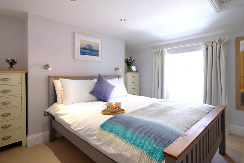 Bedroom 1 has a king-size bed and luxury linen to ensure a great night's sleep.