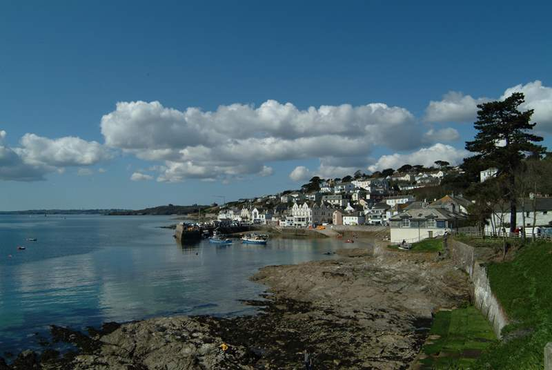 Catch the ferry from St Mawes to Falmouth.