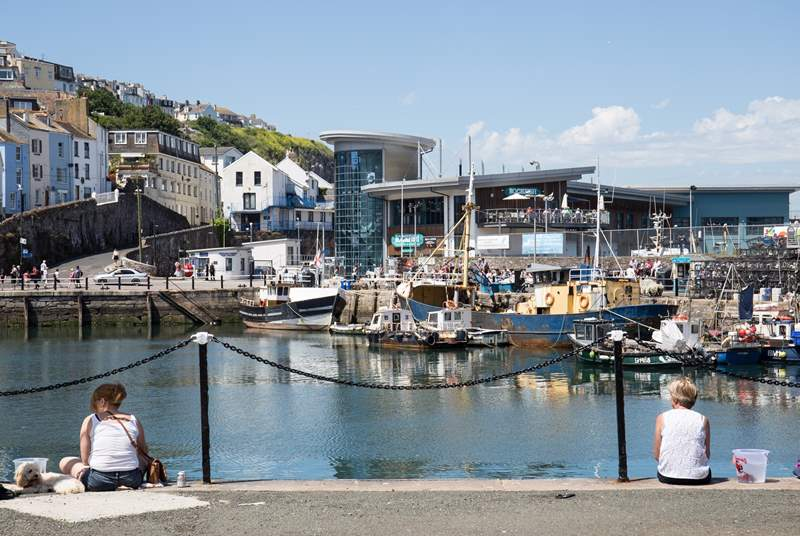 The bustling harbourside side of Brixham really is picture-perfect.