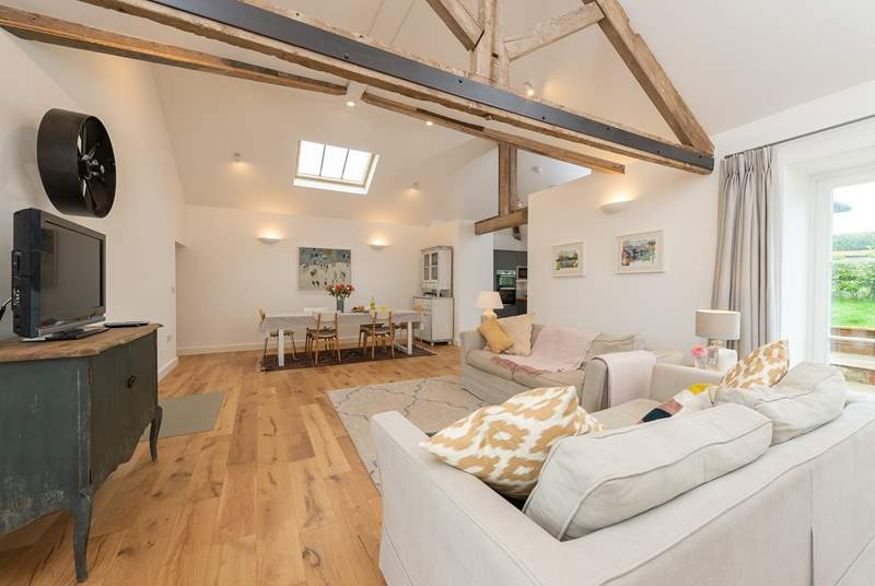 Open-plan living is great for spending time in together.
