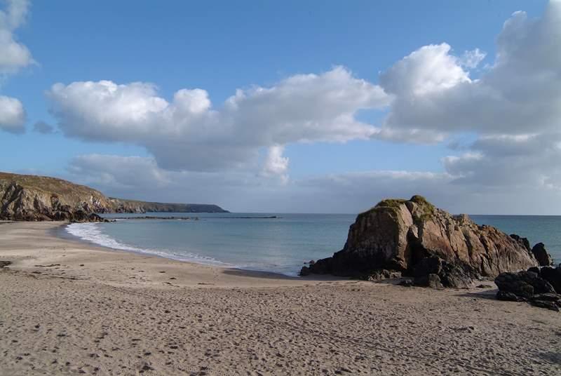 Kennack Sands, an idyllic spot for a beach walk.