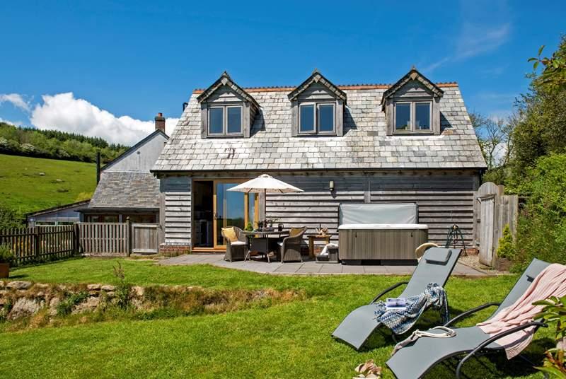 Delightful Dormouse basking in the best of the Cornish sunshine.