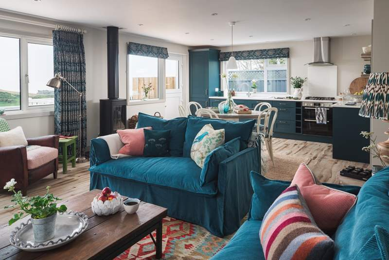 The open plan living-room is quite simply gorgeous and a wonderful room for all to gather.