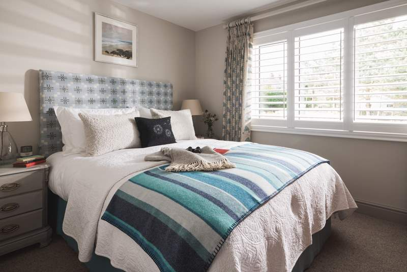 The three bedrooms are beautiful with super-comfy beds, luxurious linens and snug throws.