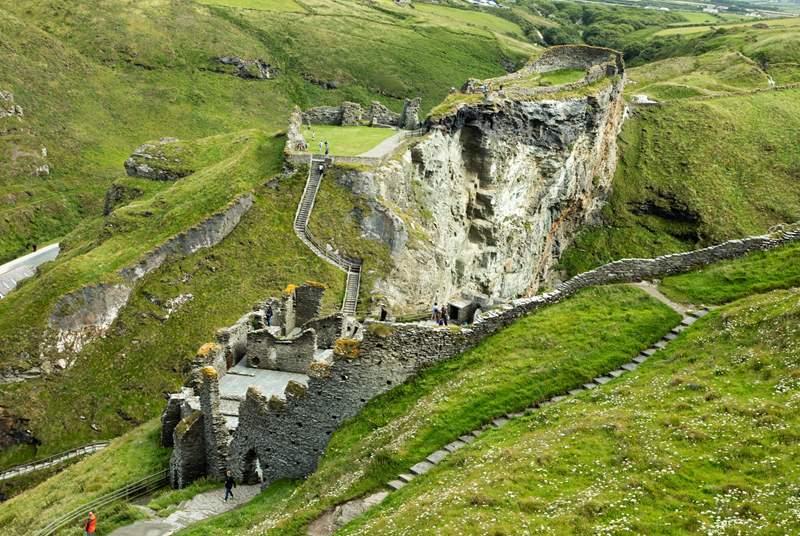 Tintagel Castle (English Heritage) the legendary home of King Arthur.