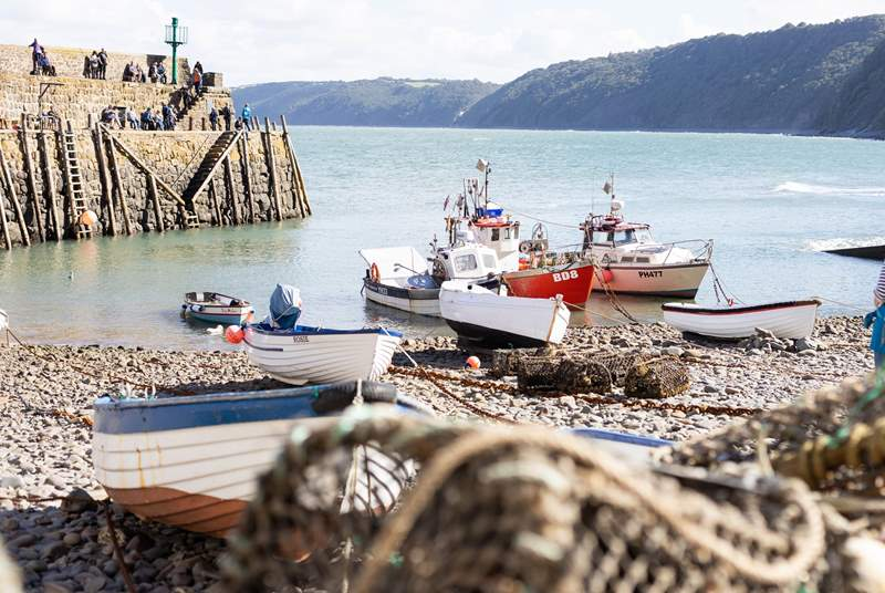 Clovelly harbour is charming.