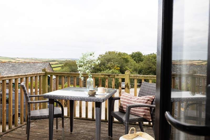 Butterwell Cottage has fabulous views of the Cornish countryside.