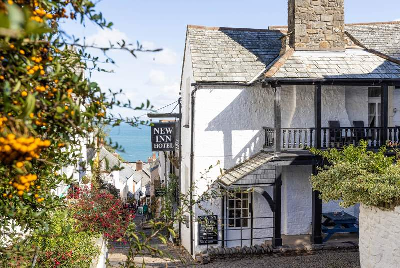 The cobbled streets and charming cottages of Clovelly.