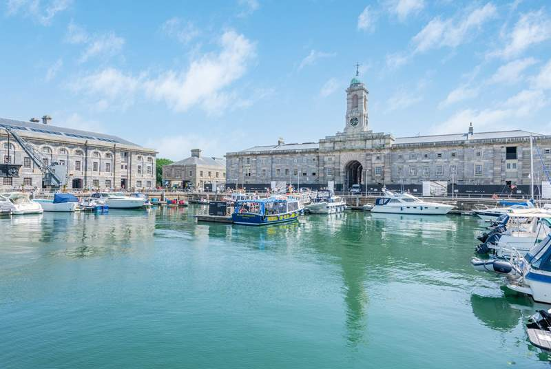 Royal William Yard has some wonderful views and the seasonal ferry can deliver you to Mount Edgcumbe and Plymouth's famous Hoe.