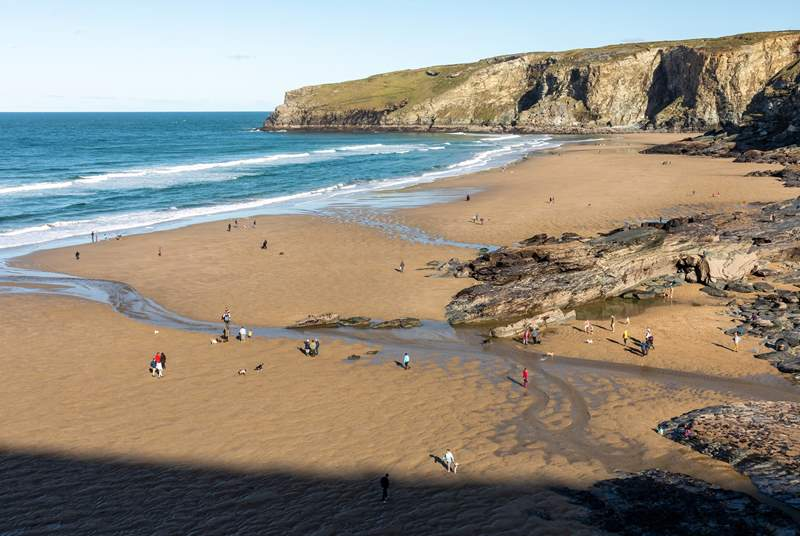 Trebarwith on the north coast for a fun family day.
