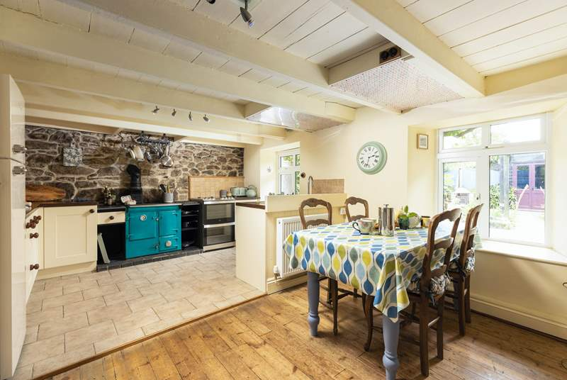 The light filled kitchen/dining-room for social times with the family.