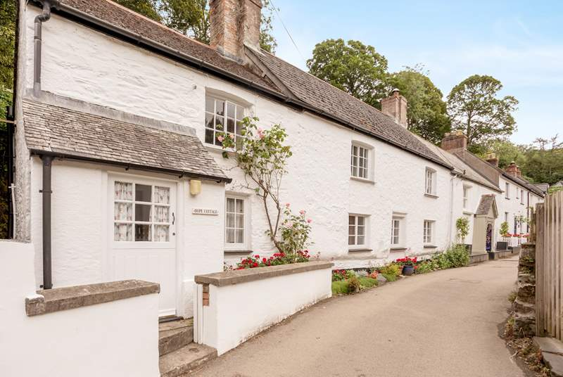 Hope Cottage is at the end of a pretty row of terraced cottages.