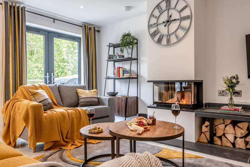 Relax after a day in the sea air in this wonderfully cosy living area.