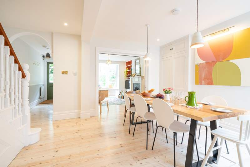 A light and modern interior creates a warm and welcoming feel to Hillside on arrival.