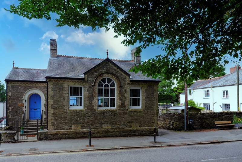 The Old Sunday School is located on Fore Street which runs through the centre of the village, there is a 20mph speed limit.