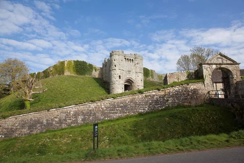 Explore the historic Carisbrooke Castle.