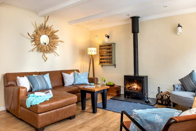 The toasty wood-burner is a welcome sight on those out-of-season breaks.