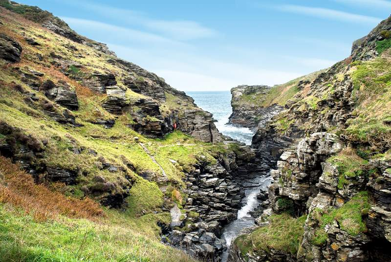 Pop on those walking boots and head out along the coastal footpath - Rocky Valley is a short stomp away.