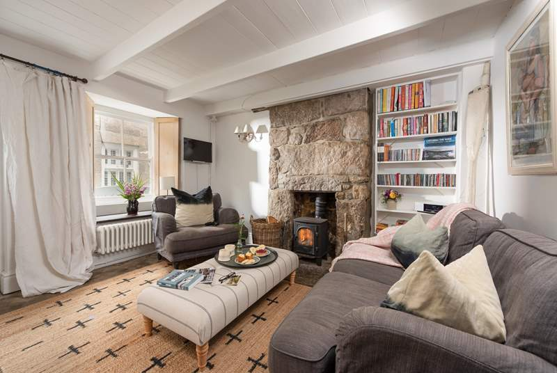 Relax in the sitting-room after a day of Cornish adventures.