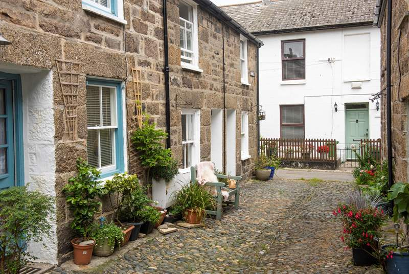 Crap Pot Cottage is located in the old town part of Newlyn, which is full of character.