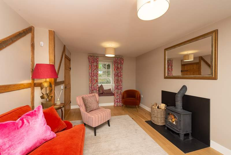 Gorgeous colours in the sitting-room.