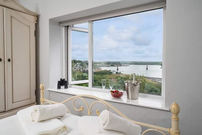 Bedroom 2 has wonderful views of Haven Waterway.