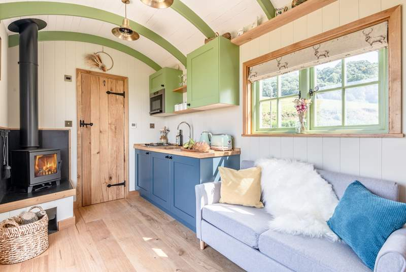 There's ample space within this gorgeous shepherd's hut.