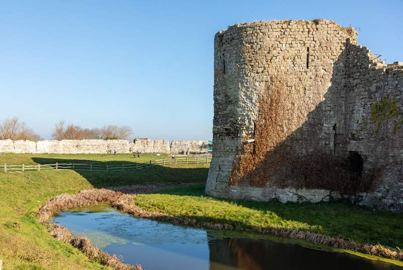 Visit the ruins of Pevensey Castle.