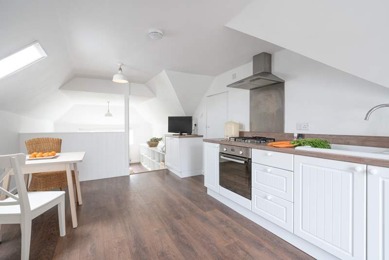 The open plan layout is light and welcoming.