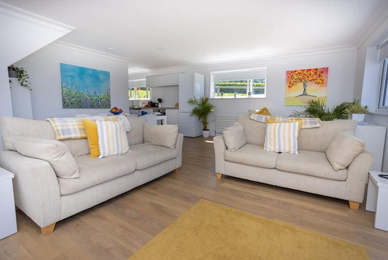 The lovely open plan living-room.