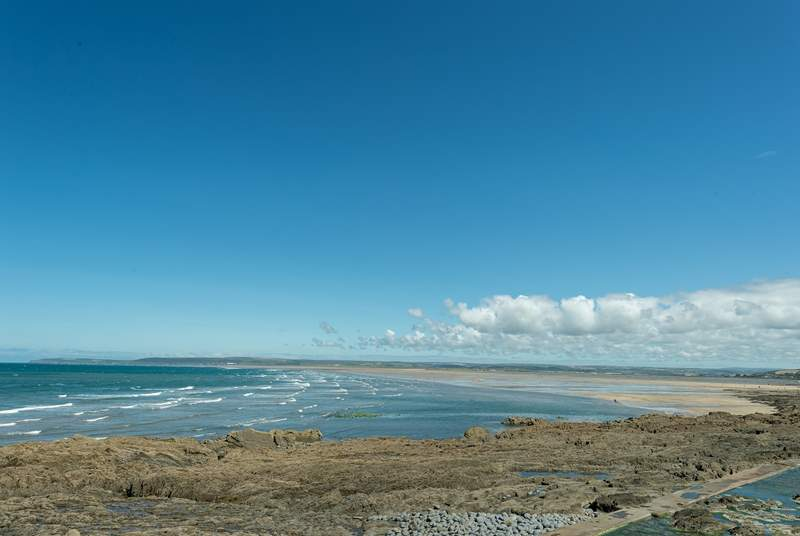 Westward Ho! and Northam Burrows offer miles and miles of golden sands!