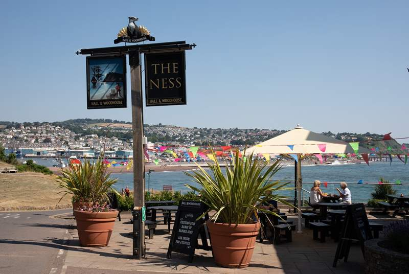 The Ness is one of the wonderful bars and restaurants within walking distance from Holly Cottage. What spectacular views!