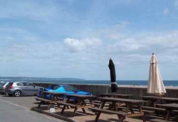 The Cricket Arms at Beesands, just down the road, has seats outside the pub so clients can enjoy the view.