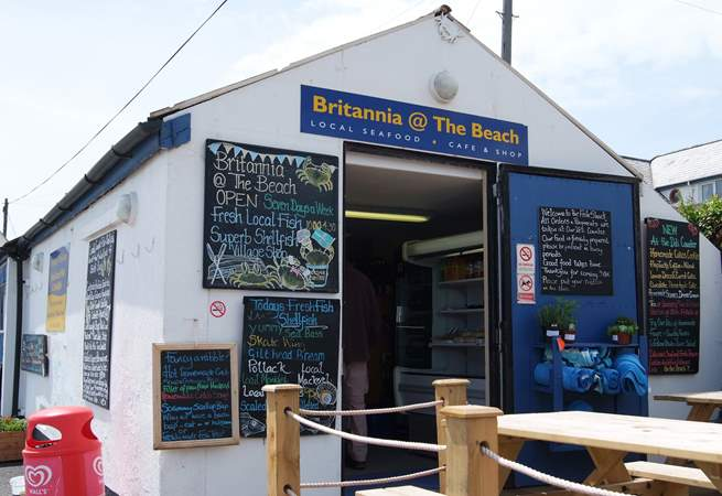 Stop for a snack! Britannia @ the Beach is a treat.