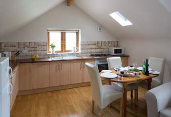 The kitchen/dining-area.