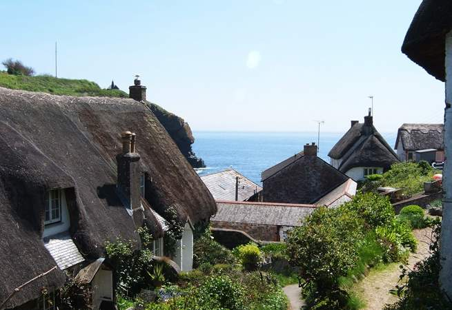 The glorious view as you descend the footpath from the car park into the village.