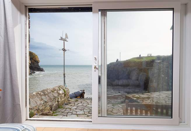 Enjoy the view as the tide comes in and out in this pretty cove.