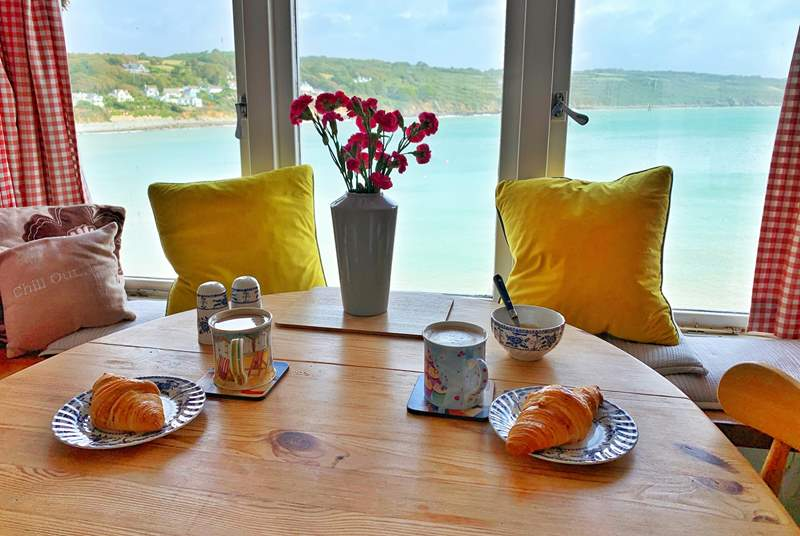 Enjoy breakfast with a view.