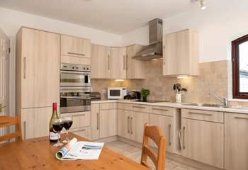 The kitchen/diner is well-equipped and perfect for sociable meals.