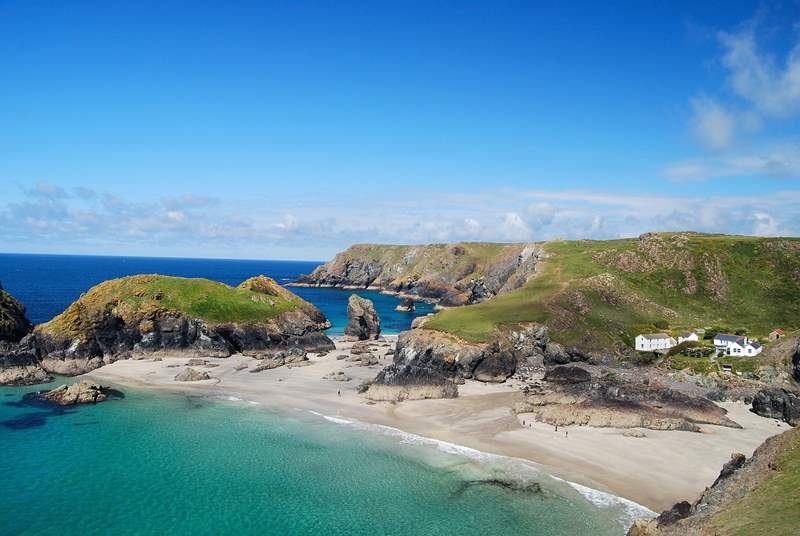 Spectacular Kynance Cove viewed from the clifftop.