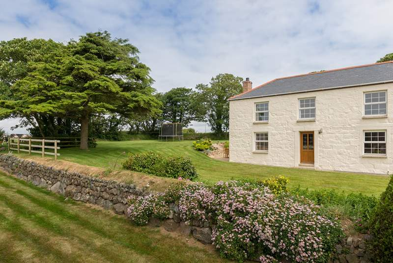Lower Trenower has a sunny patio to the side and a large garden ideal for younger members of the family.