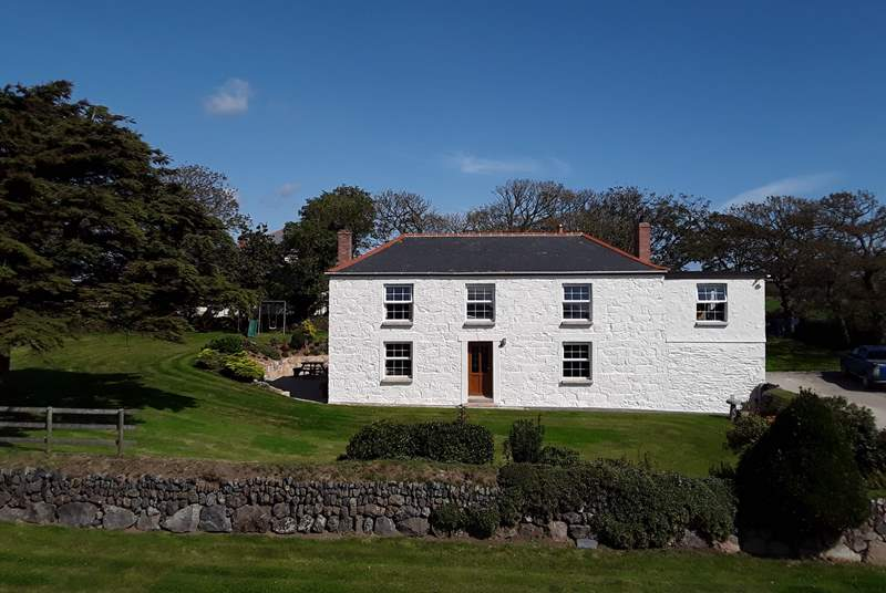 The farmhouse is divided into two with the owners entrance on the right side of the building and guests use the front door, each is totally separate and private.