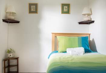 If only one bed is required in the twin room, the second can be stored away beneath the other to make more space.